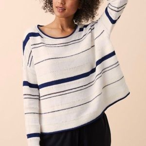 Lou & Grey Striped Oversized Pullover Knit Sweater